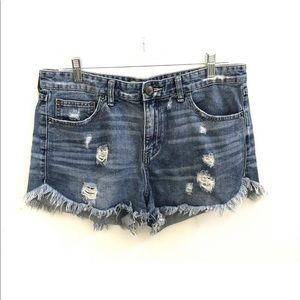 Free People Anthropologie Jean shorts 31